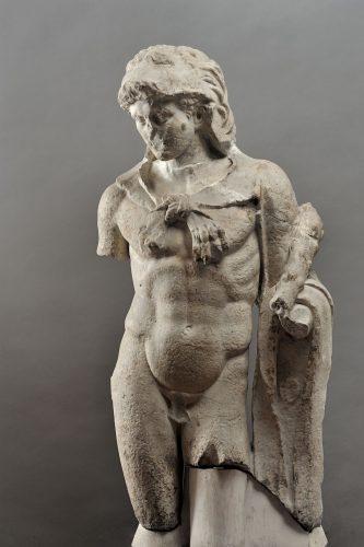 Statue d'Hercule découverte vers 1905 à La Nautique. ©CCJ